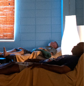 Patients laying in the treatment room